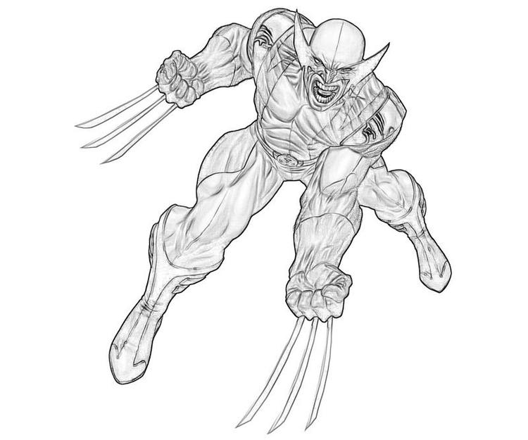 Easy Deadpool And Wolverine Coloring Pages
