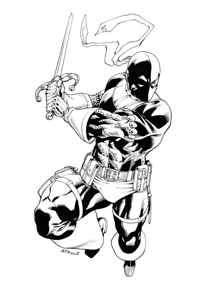 Easy Deathstroke Vs Deadpool Coloring Pages 3