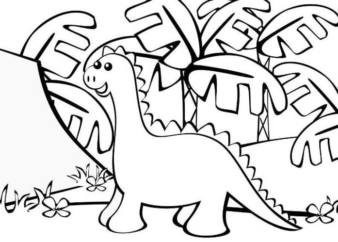 Easy Dinosaur Coloring Pages For Kindegarten