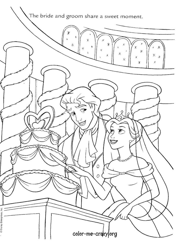 Easy Disney Wedding Coloring Pages