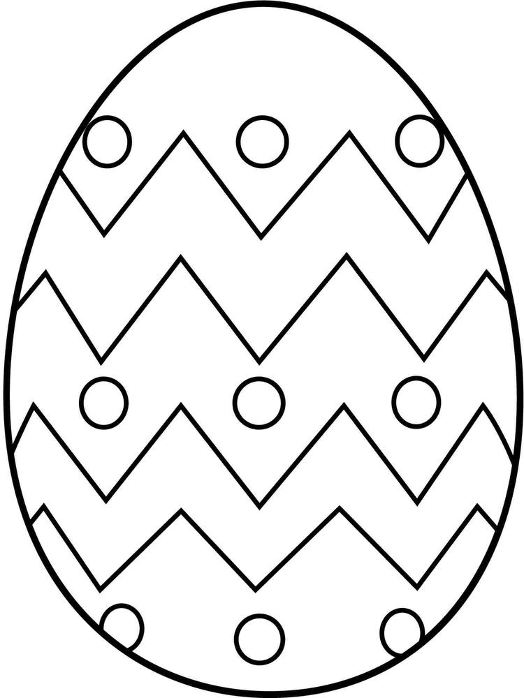 Easy Easter Egg Coloring Pages
