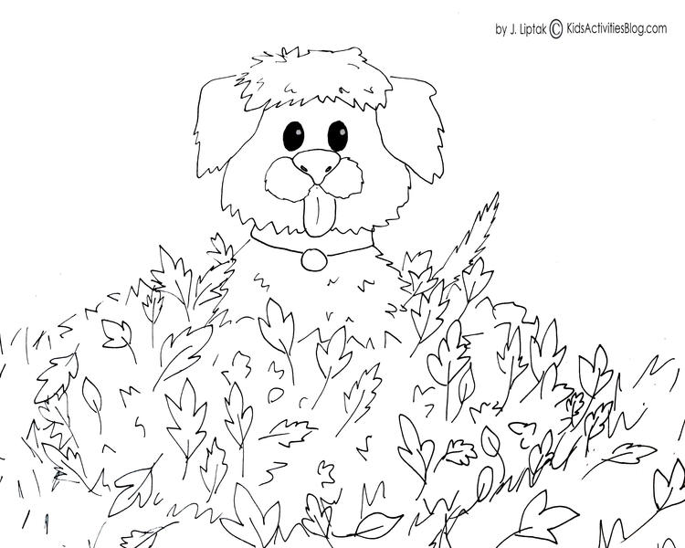Easy Fall Toddler Coloring Pages