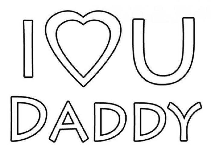 Easy Fathers Day Coloring Pages