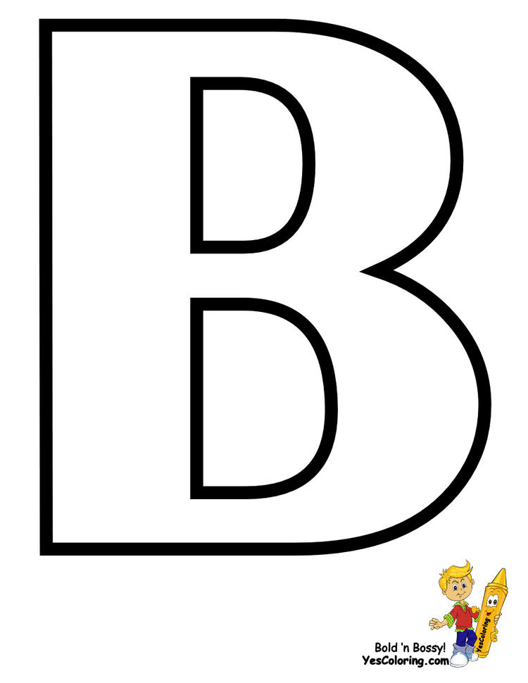 Easy Free Printable Abc Coloring Pages 1