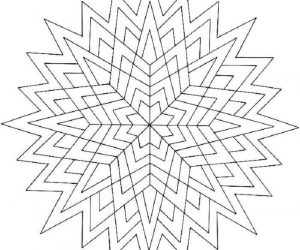 Easy geometric coloring pages
