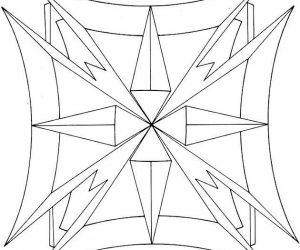 Easy geometric pattern coloring pages for adults 1