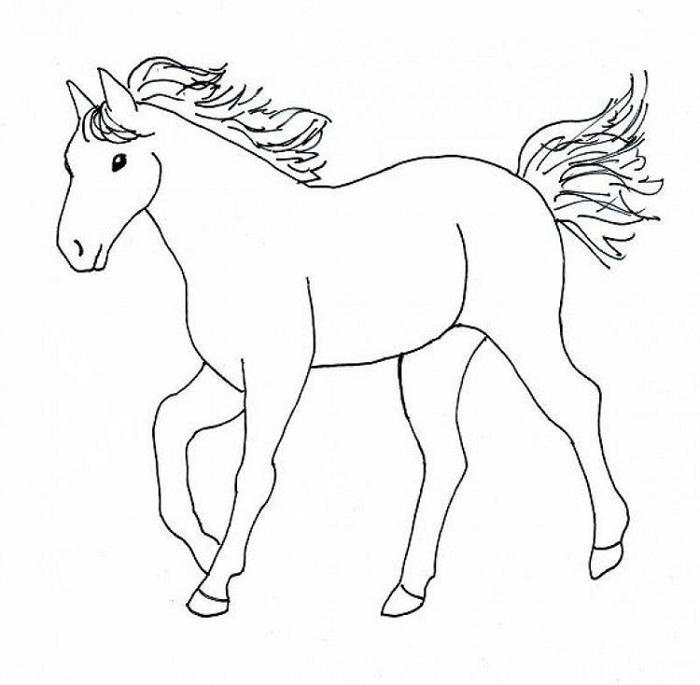 Easy Horses Coloring Pages