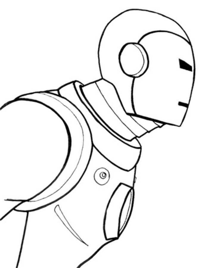 Easy Iron Man 3 Coloring Pages For Kids