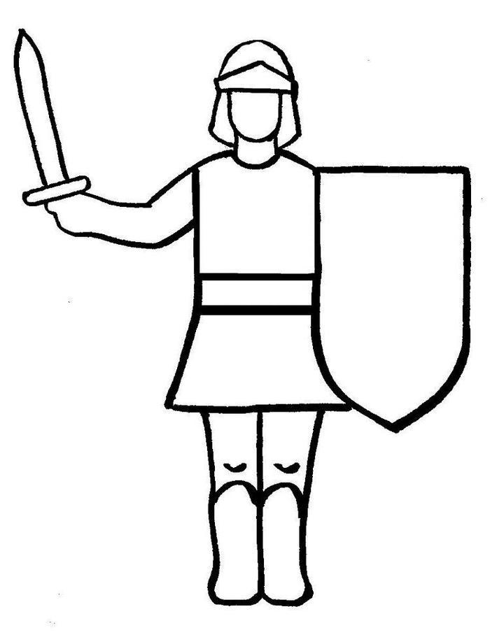 Easy Knights Coloring Pages