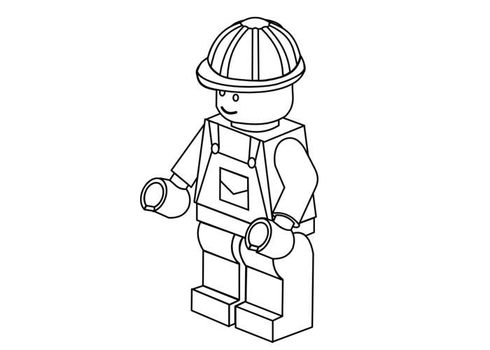 Easy Lego Marvel Coloring Pages 3