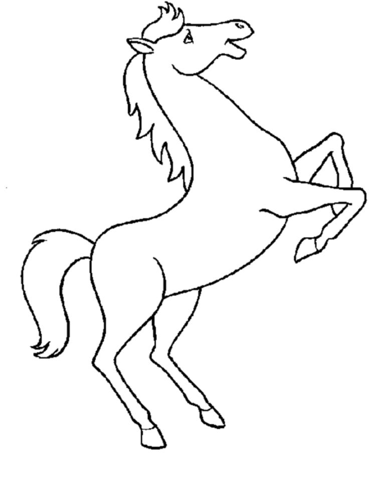 Easy Lisa Frank Horse Coloring Pages