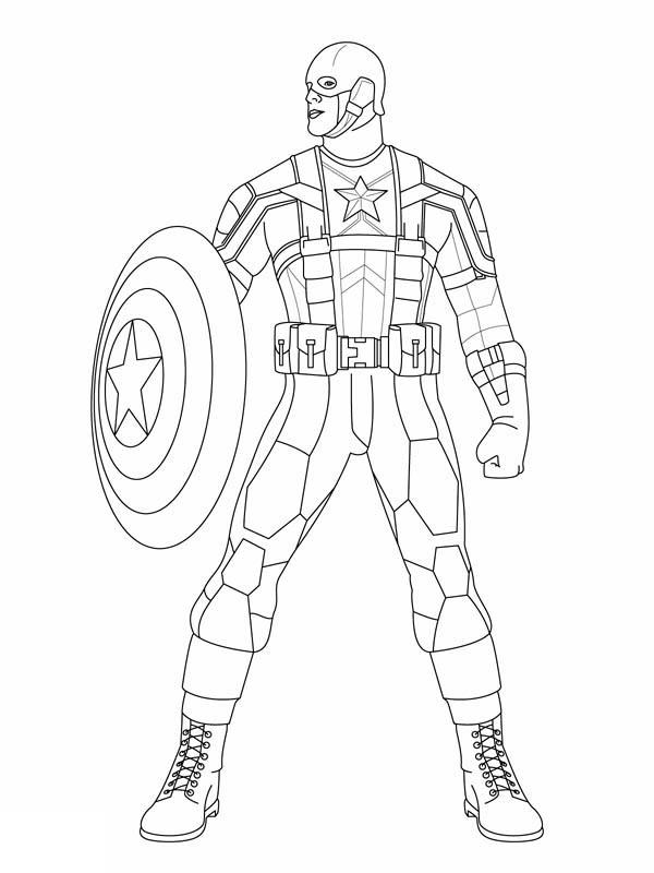 Easy Marvel Coloring Pages 1
