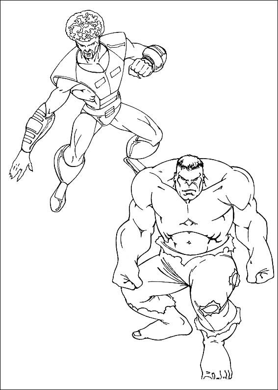 Easy Marvel Coloring Pages Hulk 1