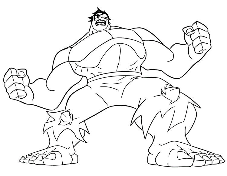 Easy Marvel Coloring Pages Hulk