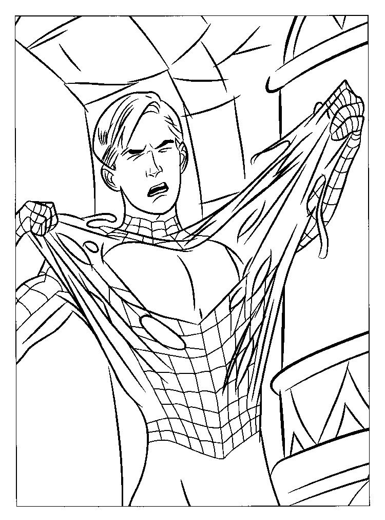 Easy Marvel Coloring Pages Spiderman 1
