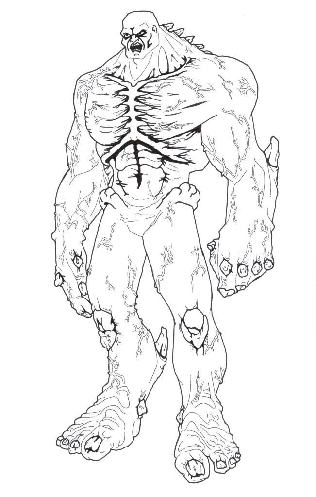 Easy Marvel Zombies Coloring Pages 1
