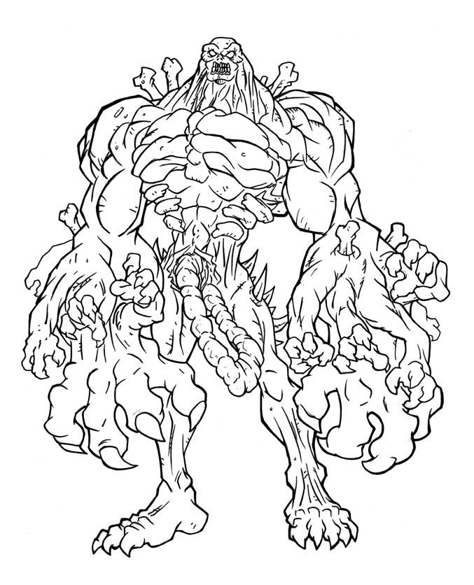 Easy Marvel Zombies Coloring Pages