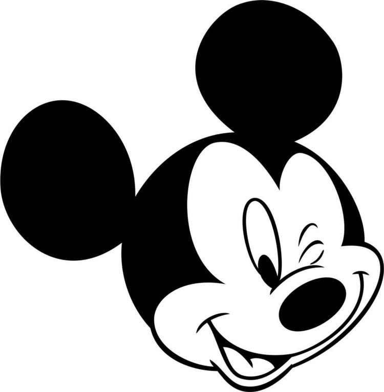 Easy Mickey Mouse Face Coloring Pages 1