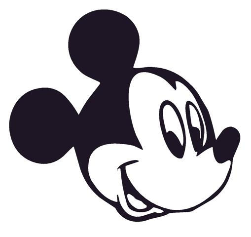 Easy Mickey Mouse Face Coloring Pages