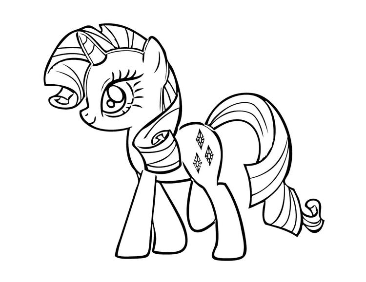 Easy My Little Pony Coloring Pages