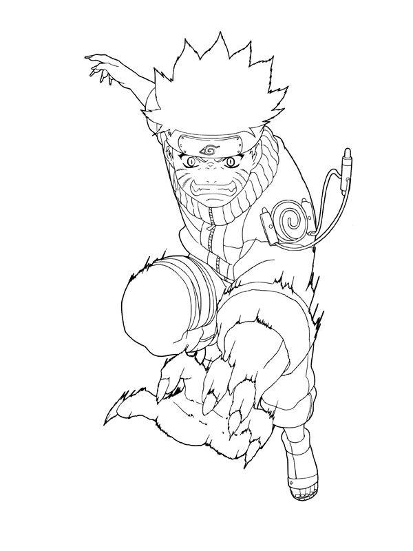 Easy Naruto Coloring Pages