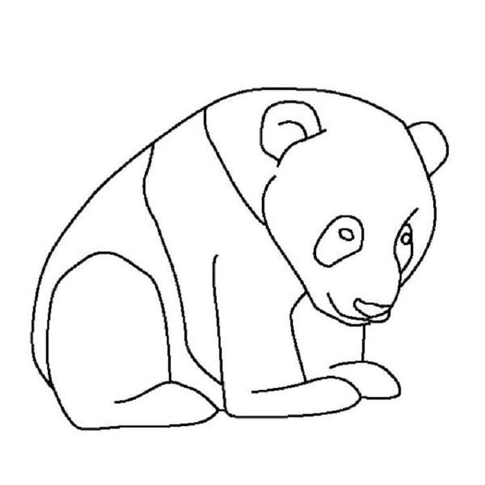 Easy Panda Coloring Pages
