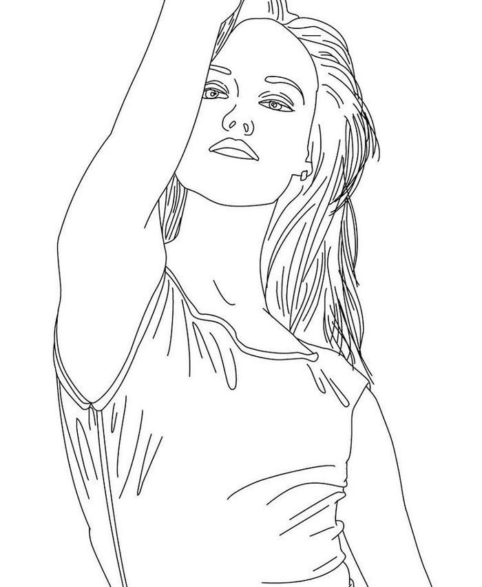 Easy People Coloring Pages