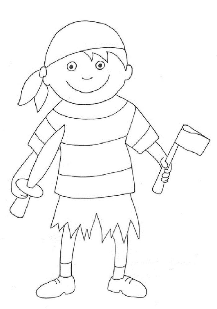 Easy Pirate Coloring Pages