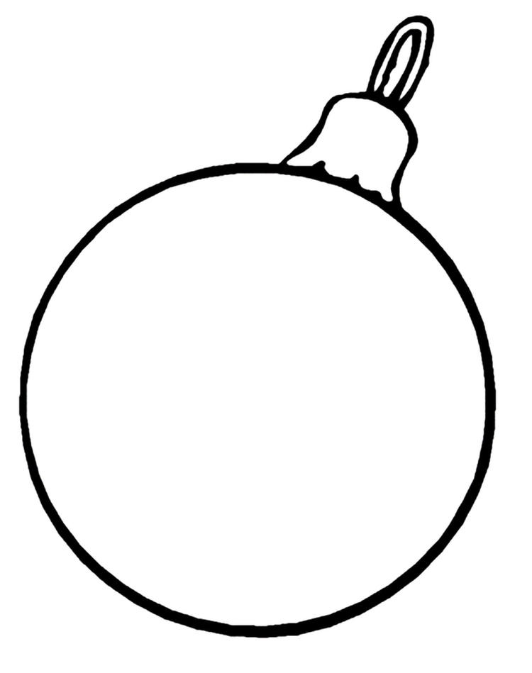 Easy Printable Coloring Pages Christmas Ornament