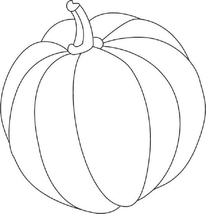 Easy Pumpkins Coloring Pages