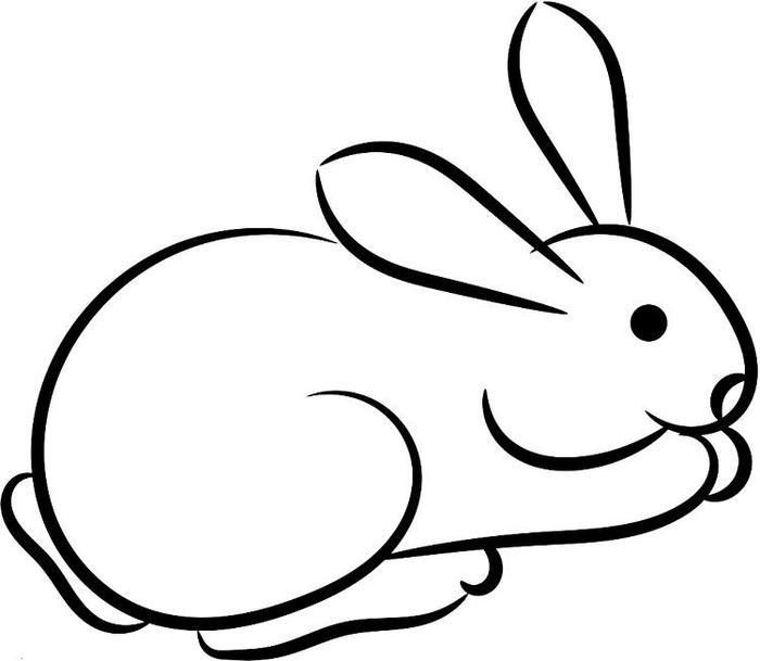 Easy Rabbit Coloring Pages