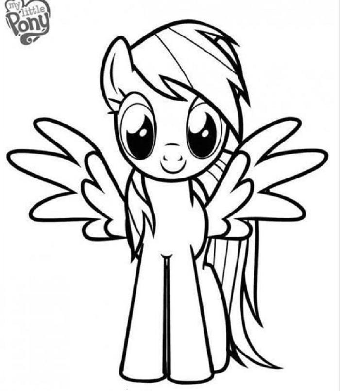 Easy Rainbow Dash Coloring Pages