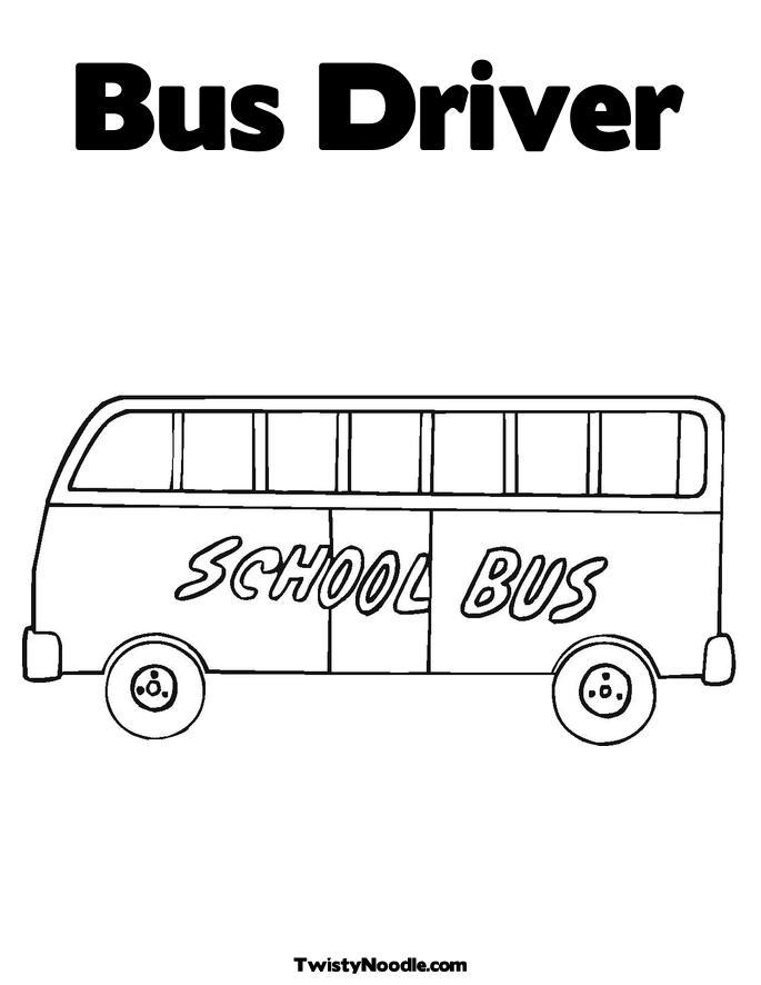 Easy School Bus Driver Coloring Pages