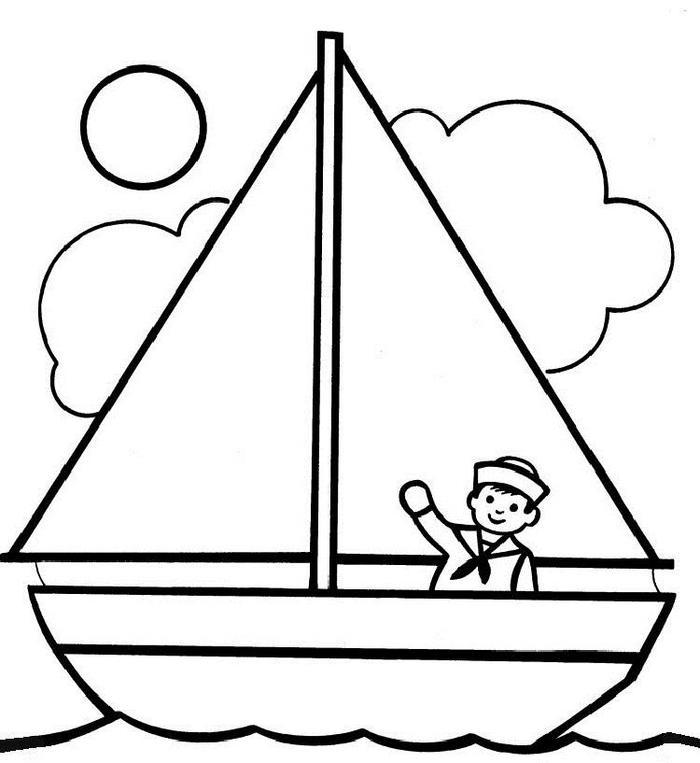 Easy Ship Coloring Pages