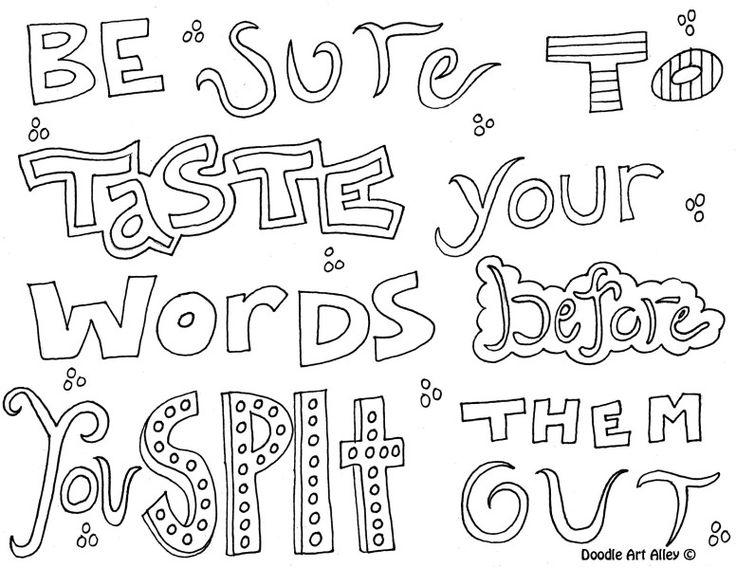 Easy Teen Quote Coloring Pages 1