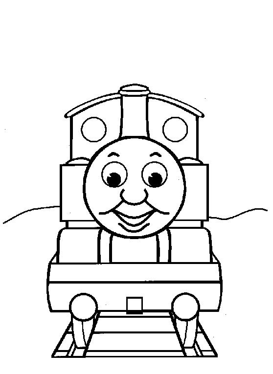 Easy Thomas The Train Coloring Pages