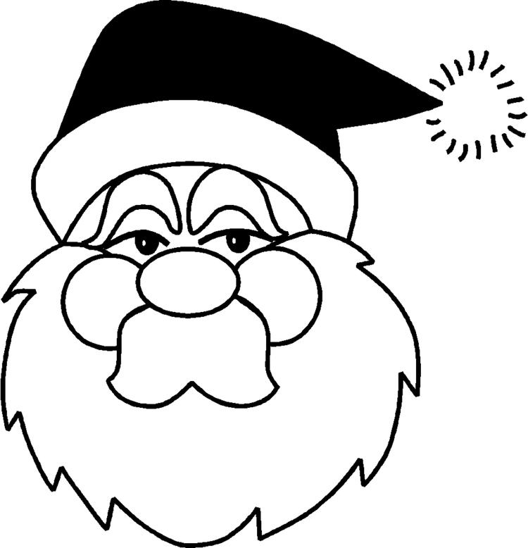 Easy Toddler Christmas Coloring Pages