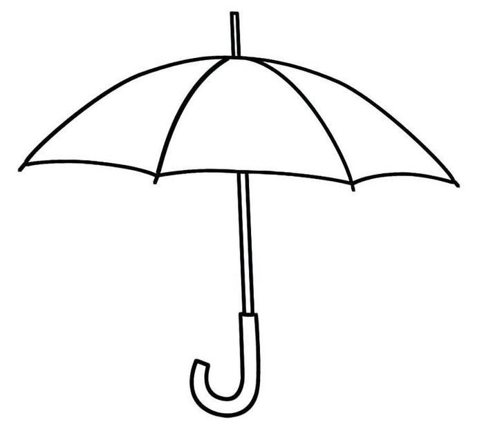 Easy Umbrella Coloring Pages