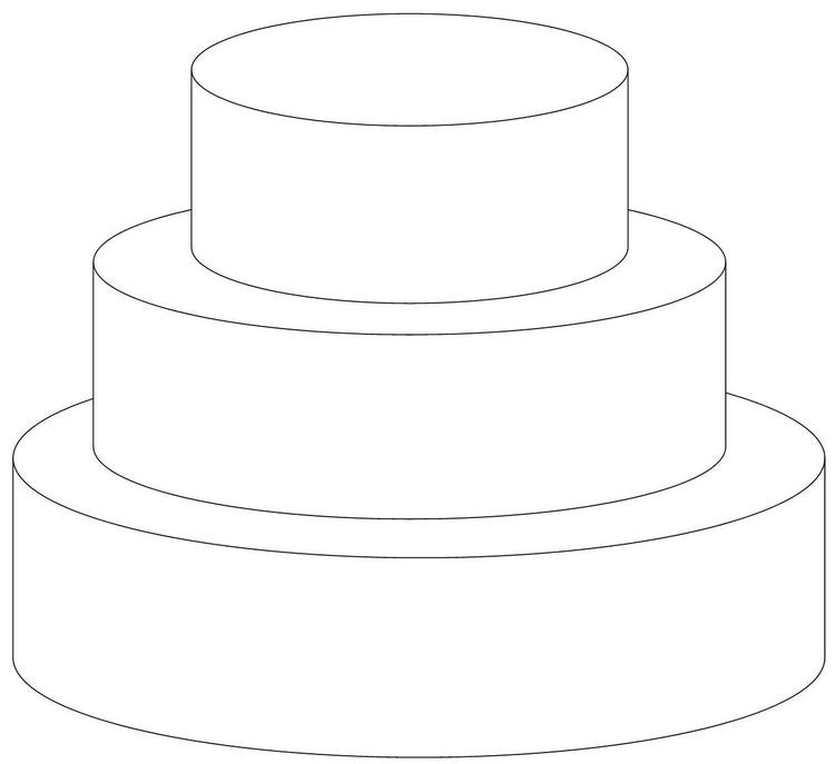 Easy Wedding Cake Coloring Pages