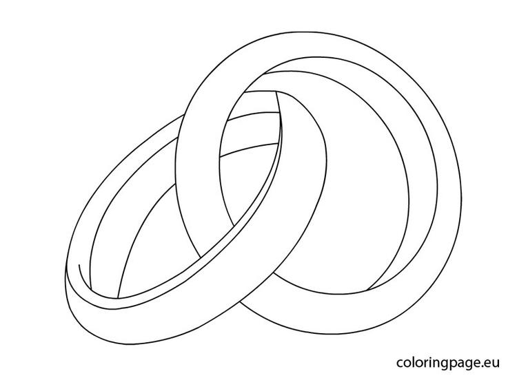Easy Wedding Ring Coloring Pages
