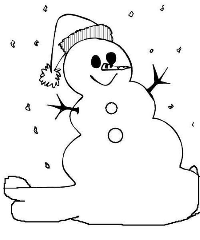 Easy Winter Coloring Pages
