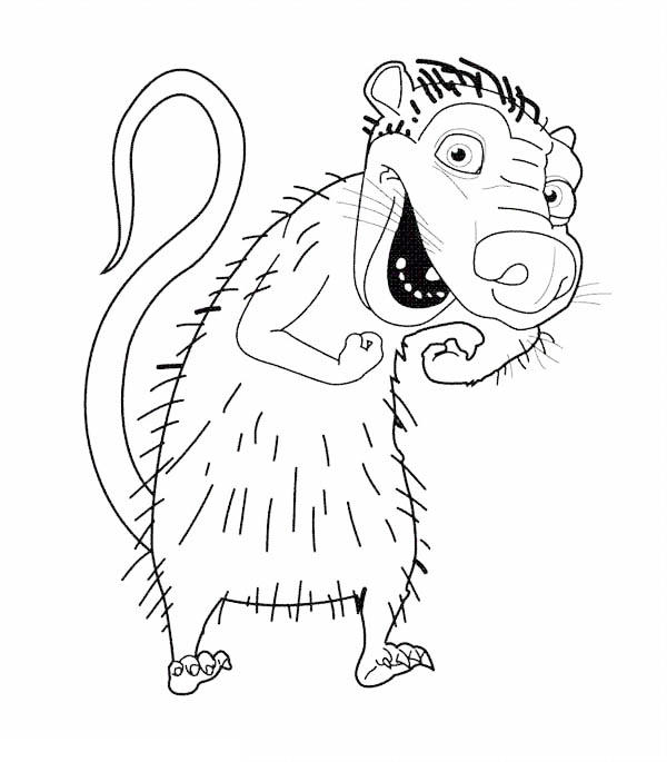 Eddie Laughing In Ice Age Coloring Pages