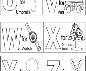 Educational alphabet coloring pages