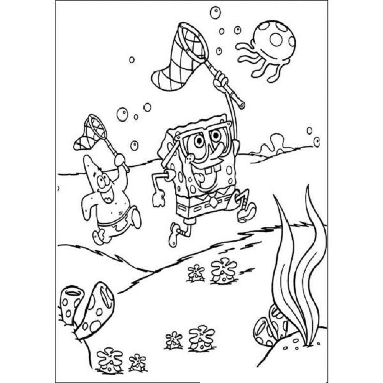 Educational Coloring Pages Spongebob