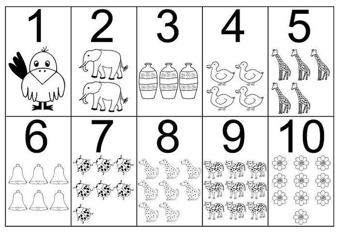 Educational Numbers Coloring Pages