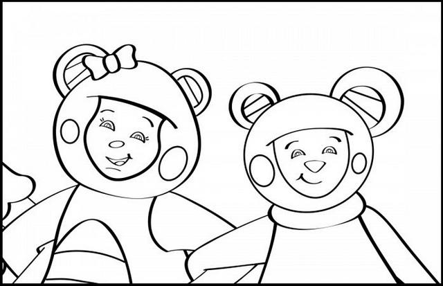 Eep The Mouse And Teddy Bear From Mother Goose Coloring Pictures For Kids