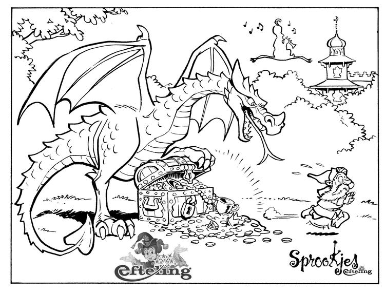 Efteling Dragon Coloring Page For Children 1