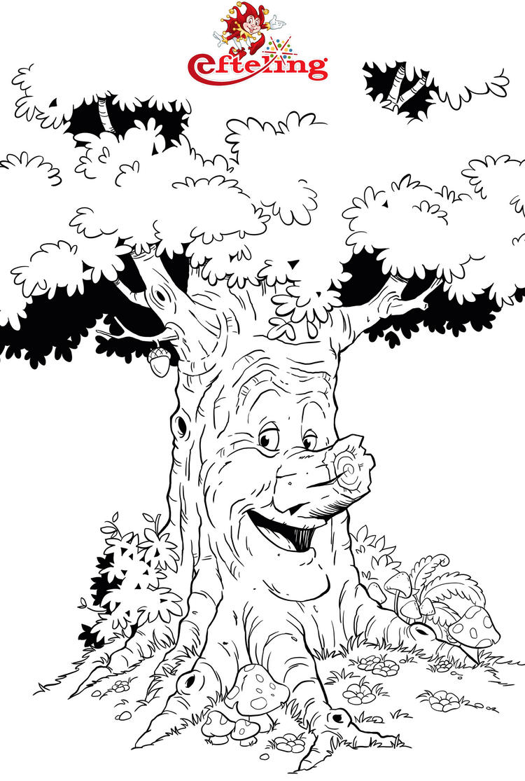 Efteling Sprekende Boom Coloring Page For All Ages 1