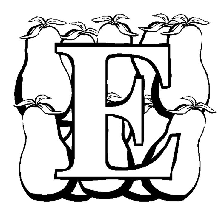 Eggplant Alphabet Coloring Pages Free