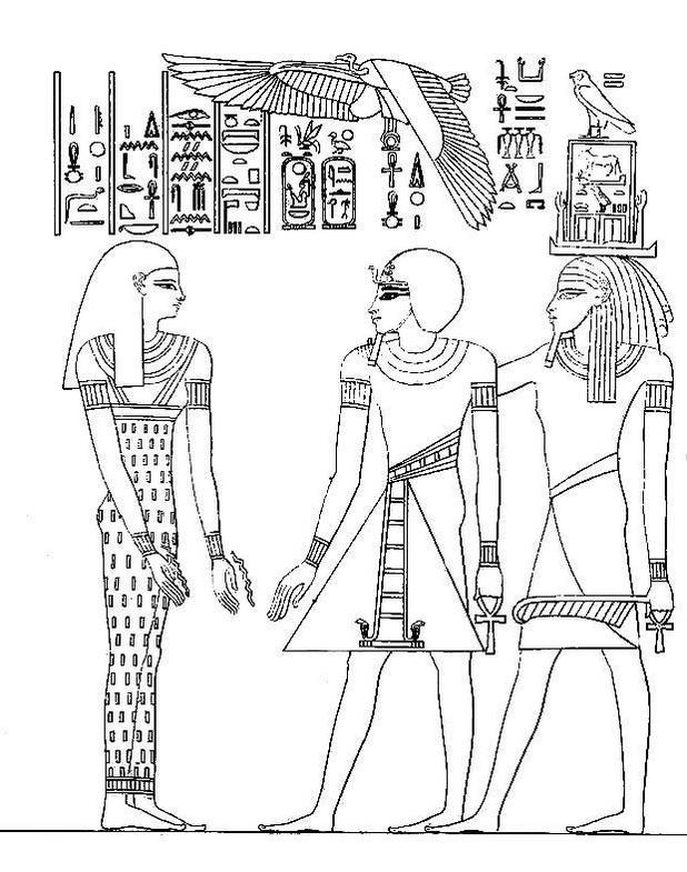 Egypt Intricate Coloring Page